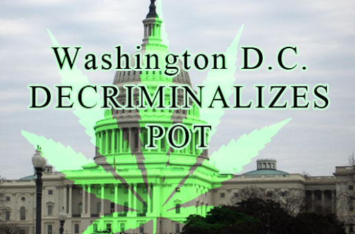 Washington, D.C. Pot Decriminalization Takes Effect July 17th